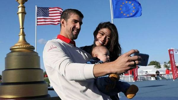 Michael Phelps, en familia.