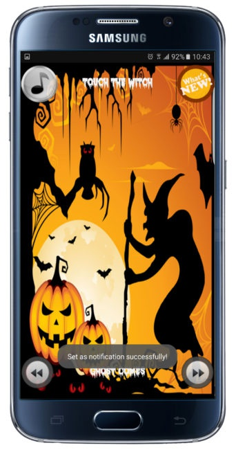 Interfaz de 35+ Halloween Ringtones