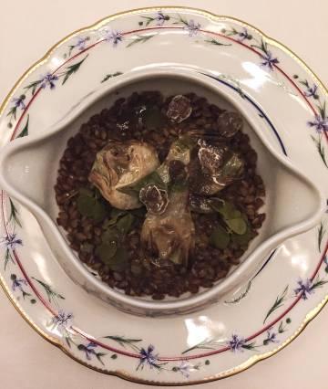 Sopa de gambas y crustáceos de Alain Ducasse.