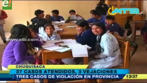 Registran 3 casos de violación en zona rural de Chuquisaca