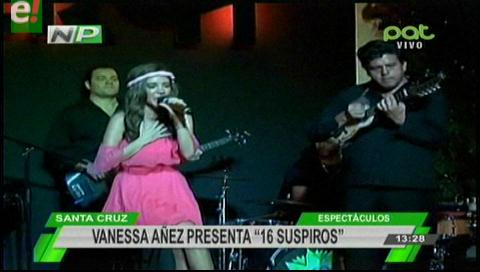 """Vanessa Áñez estrena su sencillo """"16 suspiros"""" en Vevo"""