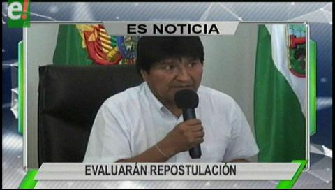 Titulares de TV: El MAS evaluará repostulación de Evo Morales en Montero