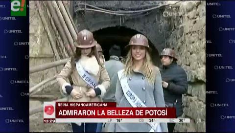 Las candidatas a Reina Hispanoamericana hacen turismo y disfrutan de Potosí
