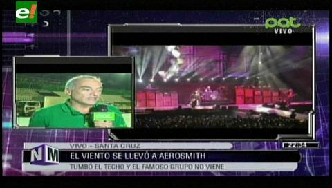 Efecto Vela causó daño en la estructura del escenario donde tocaría Aerosmith