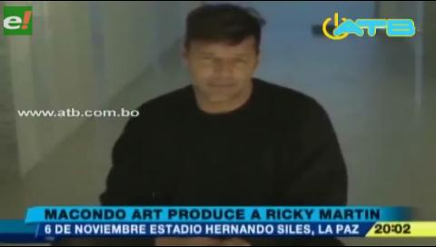 Ricky Martin saluda a Bolivia a semanas de su concierto