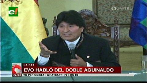 Morales confirma segundo aguinaldo si hay crecimiento del 4,5%