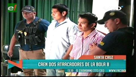Santa Cruz: Policía presenta a dos supuestos atracadores