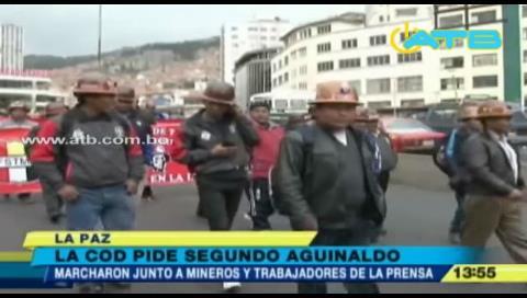 COD de La Paz se movilizó por el segundo aguinaldo