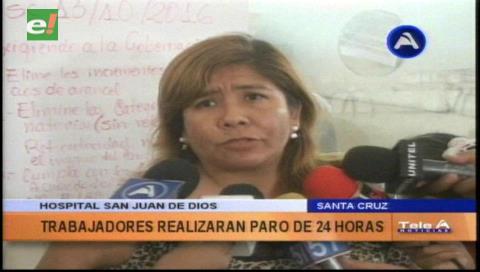 Trabajadores del hospital San Juan de Dios entran en paro