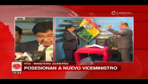 Posesionan a Pedro Villa como nuevo viceministro de Régimen Interior