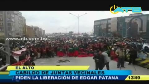 Cabildo pide liberación de Édgar Patana y Braulio Rocha