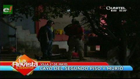 Hombre muere tras caer de un segundo piso en la Villa Primero de Mayo