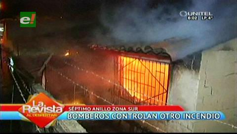 Bomberos controlaron un incendio en una vivienda de la Santos Dumont