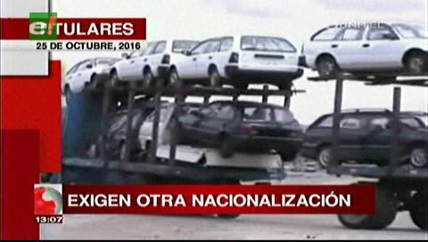 Titulares de TV: Alcaldes de los Valles Cruceños exigen nueva nacionalización de vehículos indocumentados, Aduana lo descarta