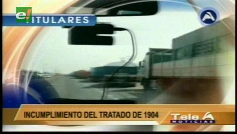 Titulares de TV: Canciller Choquehuanca dice que Chile lucra con sus puertos y solo deja el 11% a los bolivianos
