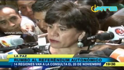 Proceso para el referéndum autonómico avanza conforme al calendario
