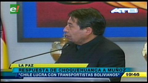 Choquehuanca asegura que Chile lucra con transportistas bolivianos