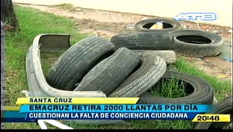 Emacruz retira 2.000 llantas por día de las calles de Santa Cruz