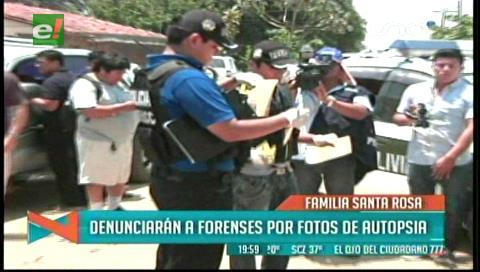 Familia Santa Rosa denunciará a forenses por fotografías que circulan en redes sociales