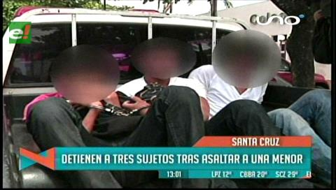 Caen tres jovenes que asaltaban a escolares