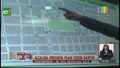 Municipio cruceño pone en marcha el Plan Todos Santos 2016