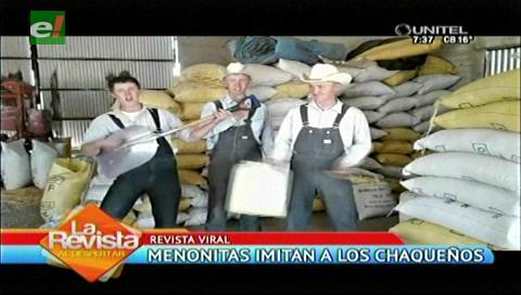 Menonitas imitan a cantantes de música chaqueña