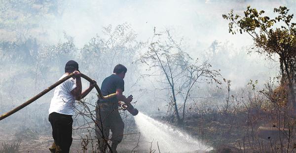 En semanas pasadas, en el oriente y en el trópico, las quemas causaron daños ambientales, como se ve en esta gráfica cruceña