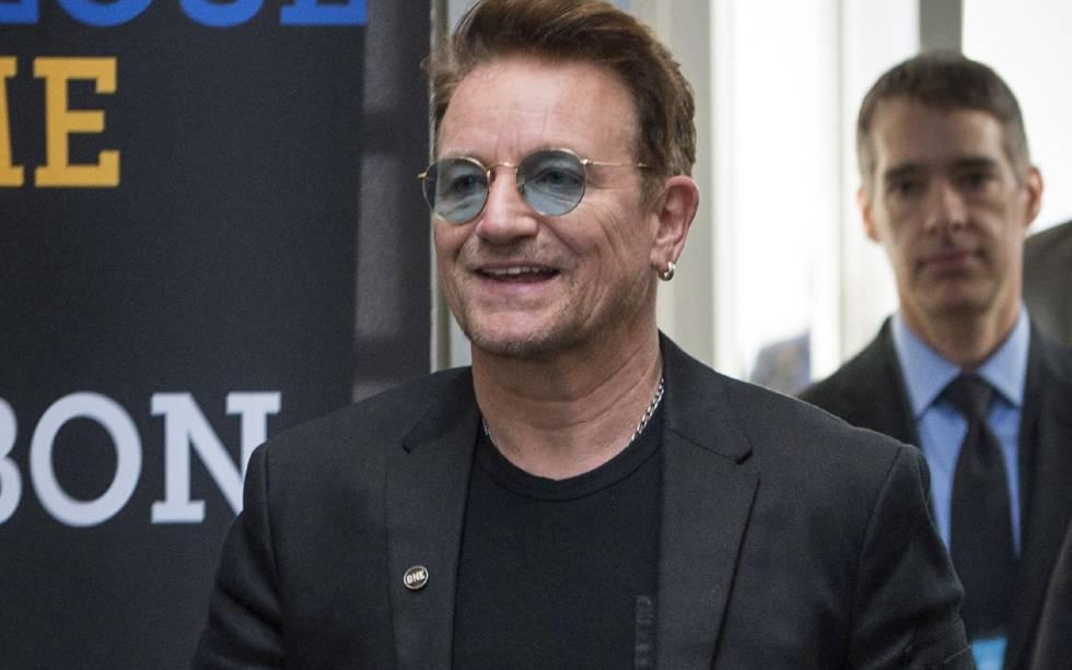 Bono, durante una conferencia en Montreal.