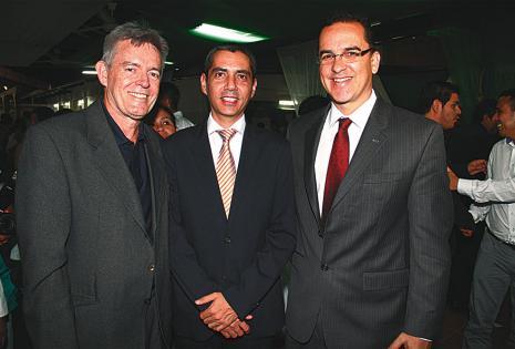 Fernando Terceros, Mauricio Suárez y Roly Aguilera Gasser