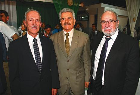 José Luis Camacho, Wilmar Stelzer y Jorge Landívar, en el cóctel