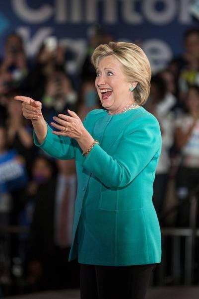 La demócrata Hillary Clinton en un acto en Manchester, New Hampshire. BLOOMBERG