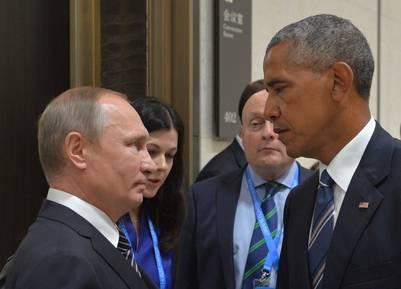Vladimir Putin y Barack Obama cruzaron duras miradas en la cumbre del G-20 en China. La tensión entre ambos fue creciendo en los últimos meses. (DPA)