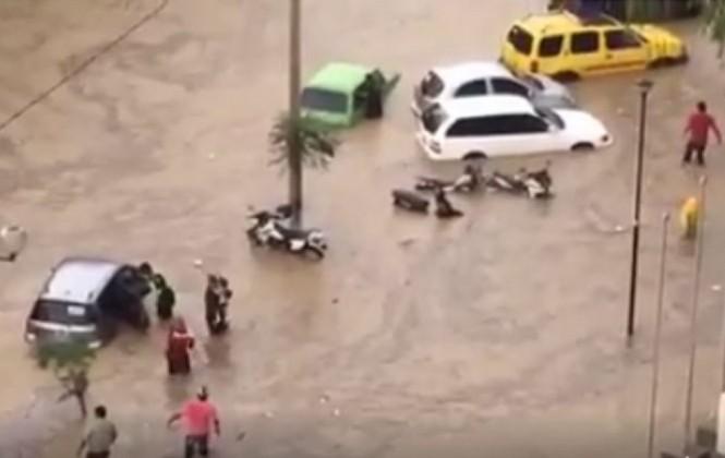 Torrencial lluvia genera alarma en la ciudad de Tarija