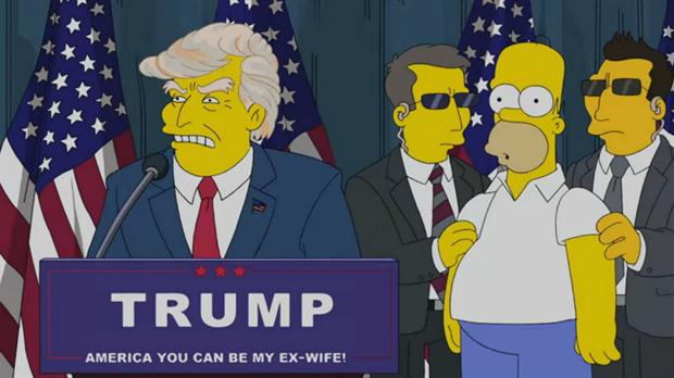 Donald Trump, en Los Simpsons