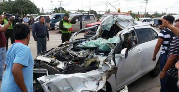 Así quedó el vehículo que conducía Ricardo Montaño