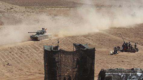 El ejercicio de eficiencia combativa del Ejército en la localidad de Patacamaya.