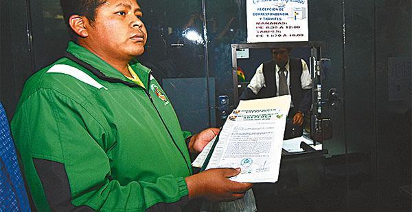 Franklín Gutiérrez, dirigente cocalero de Yungas de La Paz