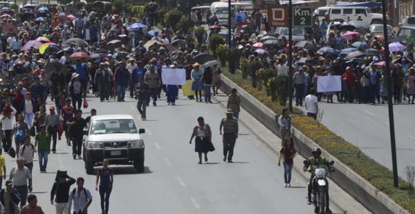 La Policía levantó el bloqueo de forma pacífica