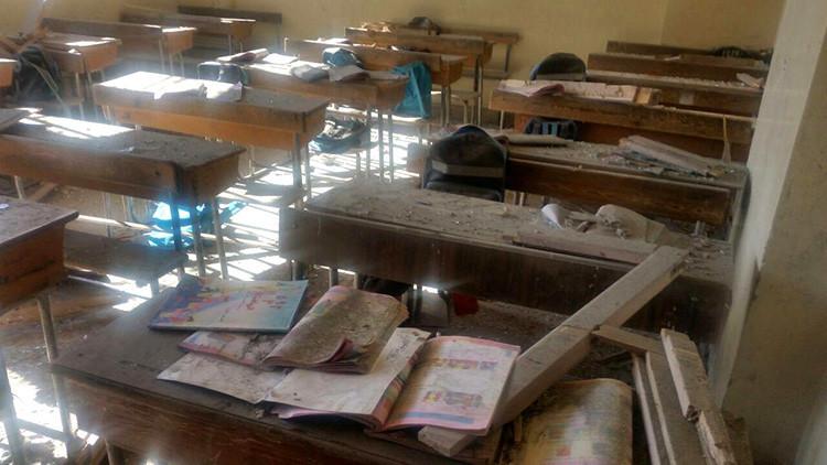 Escuela en Alepo atacada por rebeldes, 20 de noviembre de 2016.