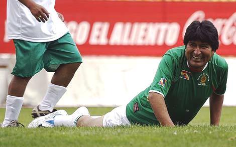Resultado de imagen para Evo Morales deportes