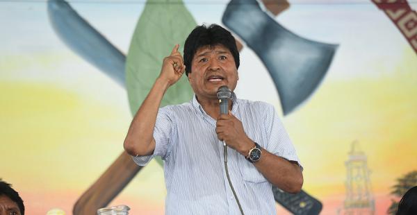 El presidente Evo Morales en un acto en Cochabamba ayer sábado