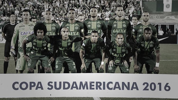 El equipo Chapecoense de Brasil, el 23 de noviembre de 2016