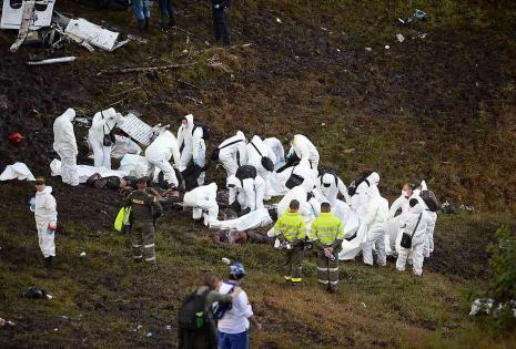Los restos del avión quedaron así tras la tragedia