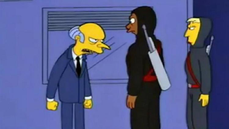 Escena del capítulo 'Dos coches en cada garaje y tres ojos en cada pez' de la serie 'Los Simpsons'