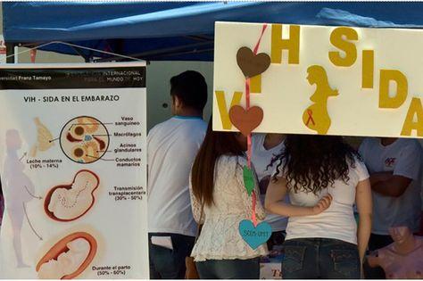 Campaña de concientización sobre el VIH/Sida en La Paz