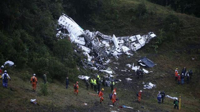 Así quedó el avión después de la tragedia