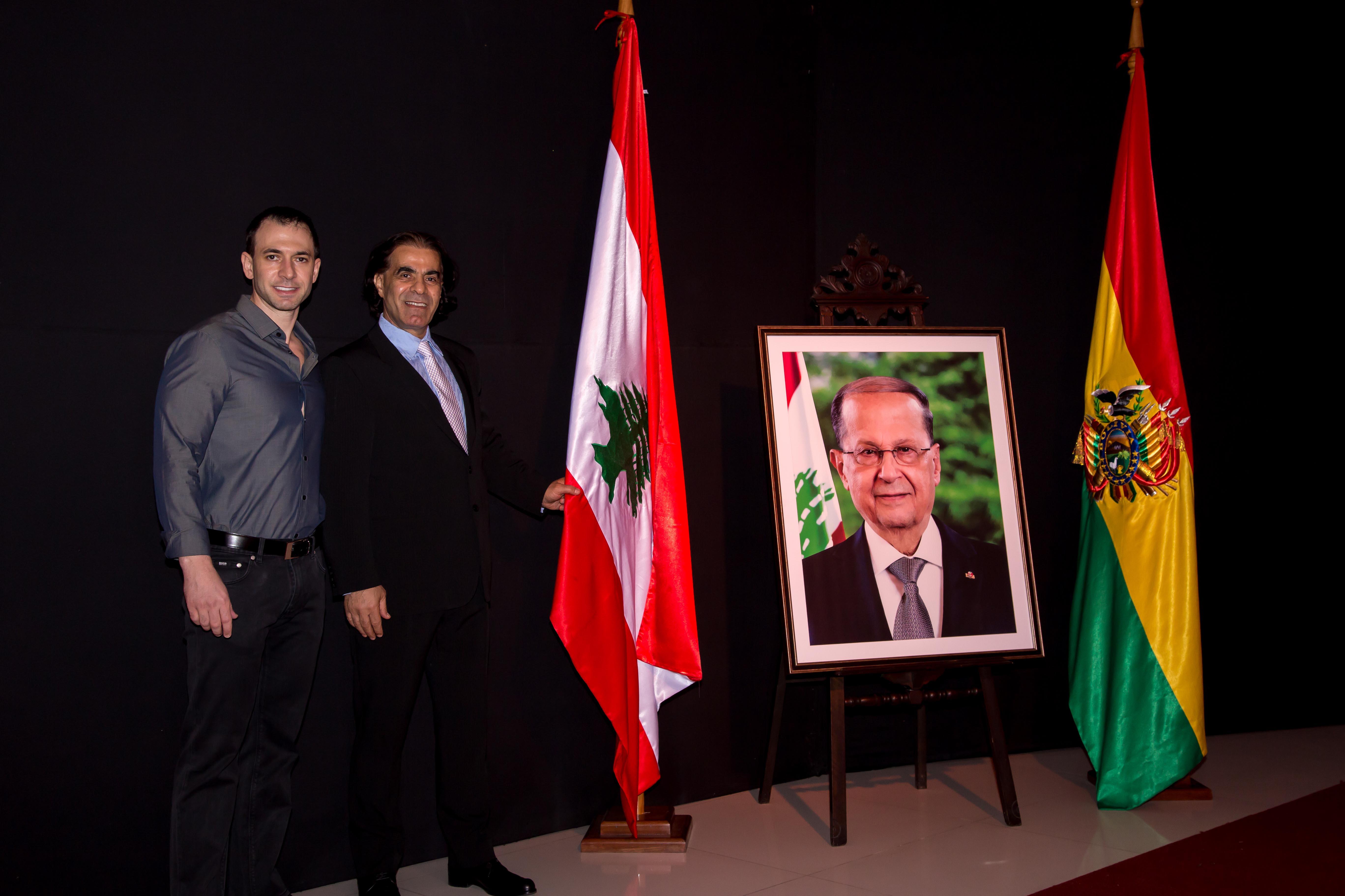 Abdallah Daher junto a su hijo Edmund Daher