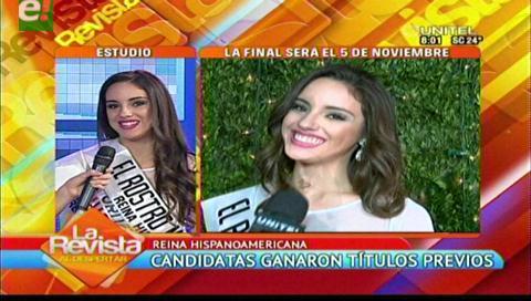 Entregaron títulos previos del Reina Hispanoamericana 2016