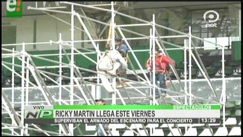 Ricky Martin llega el viernes a Santa Cruz