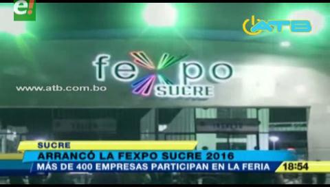 400 empresas participan en Fexpo Sucre 2016